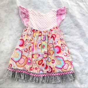 Mstilda Jane Flower Polka dot Dress Sz 2